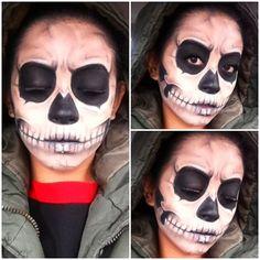 Bad to the bone. Skull Makeup. Well I know what Im gonna be this year for Halloween!!
