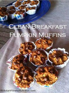 clean eating breakfast pumpkin muffins