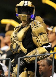 Master Chief is a Saints fan, go figure.