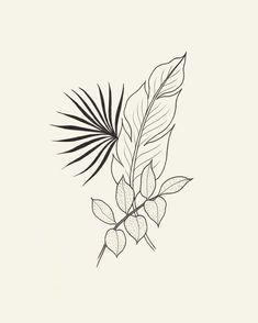 upcoming work Palm Tattoos, Body Art Tattoos, Tattoo Sketches, Tattoo Drawings, Art Drawings, Tropical Tattoo, Handpoked Tattoo, Plant Tattoo, Minimal Tattoo