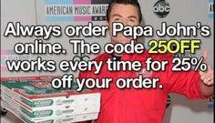 Papa John's Life Hack