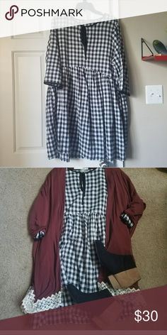 """Gingham Smock Dress Lightweight gingham smock dress. This is a REPOSH, the bust is a little snug for me (these pictures are from the original listing and seller). 23"""" across bust 37"""" long ASOS Dresses Mini"""