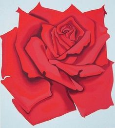 Red Rose, Ltd Ed Silk-screen, Lowell Nesbitt