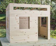 spielhaus garten Build a Playhouse Backyard Playhouse, Build A Playhouse, Playhouse Kits, Kids Outside Playhouse, Kids Playhouse Plans, Modern Playhouse, Outdoor Playhouses, Childrens Playhouse, Cubby Houses
