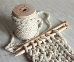 Thick Yarn and large knitting needles
