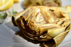 kitchen & aroma: oven braised artichokes with garlic & thyme
