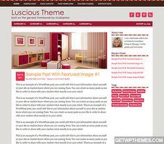 Luscious 1.0 - StudioPress Free WordPress Theme Download