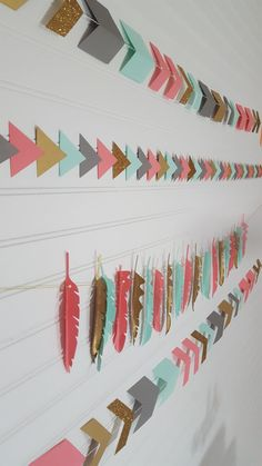 Tribal Wild One Glitter Dipped Tricolor Feather Garland First Birthday Party >>> Nursery Decor *****IF YOU NEED YOUR ITEMS BEFORE 4-6 WEEKS AFTER PURCHASE DATE, PLEASE CONTACT ME FIRST TO CHECK AVAILABILITY, DUE TO ALL ITEMS BEING MADE TO ORDER.*****