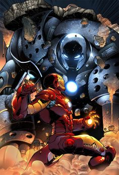 iron man vs iron monger by Ander Zarate Marvel Comics, Comics Anime, Arte Dc Comics, Bd Comics, Marvel Vs, Marvel Heroes, Comic Book Characters, Marvel Characters, Comic Books Art