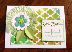 Handmade Paper Any Occasion Greeting Card Blank by Scrapbooker429, $3.75 https://www.etsy.com/listing/191140363/handmade-paper-any-occasion-greeting