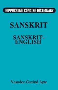 Concise Sanskrit English Dictionary by Davidovic Mladen