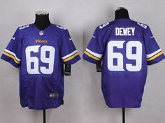 Men's Minnesota Vikings #69 Dewey 2013 Nike Purple Elite Jersey