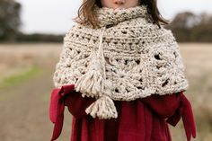 Granny Square Capelet Free Crochet Pattern – Teal & Finch