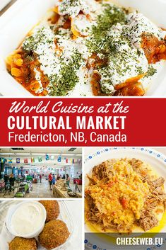 The Cultural Market in New Brunswick, Canada, connects people through world cuisine. Join us as we eat our way around the world. New Brunswick Canada, Canada Holiday, Drinking Around The World, Good Food, Yummy Food, World Recipes, Foodie Travel, Around The Worlds, Slow Travel