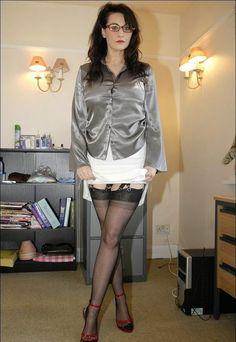 high heels und strapse latex hemd