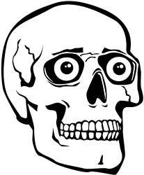 Gool for a skull stencil