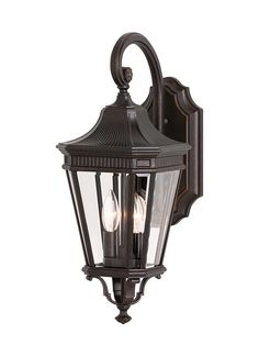 Buy the Feiss Black Direct. Shop for the Feiss Black Traditional 2 Light Outdoor Wall Lantern from the Cotswold Lane Collection with Clear Beveled Glass Shades and save. Outdoor Wall Lantern, Outdoor Wall Sconce, Outdoor Wall Lighting, Outdoor Walls, Wall Sconce Lighting, Home Lighting, Wall Sconces, Lighting Direct, Lighting Showroom