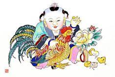 Chinese New Year Cherubs posted by Sifu Derek Frearson Chinese New Year Poster, New Years Poster, Chinese New Year Traditions, China, Chinese Art, Japanese Art, Asian Art, Art Pictures, Vintage Art