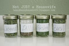 Drying and storing your own herbs from Not Just a Housewife