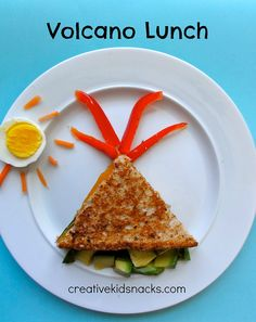 Volcano Lunch - creative way to teach kids about how volcanoes work during lunch time!