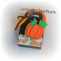 La Creativa Impertinente: Halloween Scrap Time - sacchetto per dolcetti e tutorial