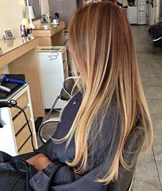 Beautiful Ombre Balayage at Gleam Hair Studio Miami.