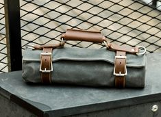 Green And Grey, Black And Brown, Canvas Tool Bag, Harbor Freight Tools, Recycled Leather, Leather Craft, Tool Roll, Personalised Gifts For Him, The Ultimate Gift