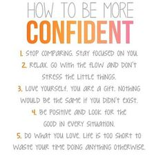 Steps for confidence