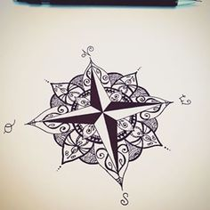 Photos tattoo boussole dessin