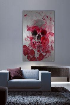 """""""Skull 2"""" Aluminum Wall Art Print Artist: Parvez Taj Sizing: 36x24 OR 45x30"""