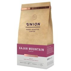 Union Coffee Dark Roast Coffee Beans - Gajah Mountain Sumatra 200g from Ocado