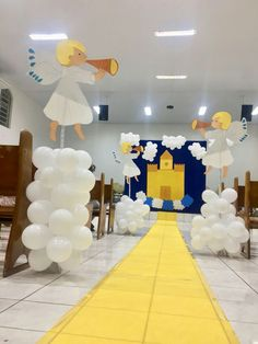 Bible Crafts For Kids, Fun Arts And Crafts, Vbs Crafts, Sunday School Rooms, Sunday School Crafts, School Decorations, Balloon Decorations, Bible Activities, Preschool Activities