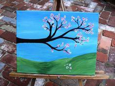 Flowering branch  Original acrylic painting by LindaHansonDesigns