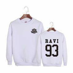 VIXXCHOOL Ravi 93 Rapper Black White Cool Trendy Fashion Sweatshirt #VIXXCHOOL #VIXX #Ravi #Rapper #Black #White #Cool #Trendy #Fashion #Sweatshirt #KPOP #KIDOLSTUFF