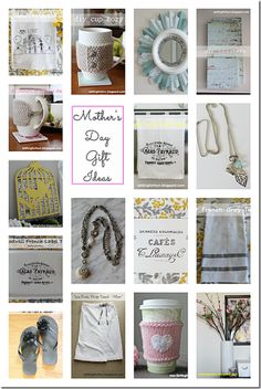 Mothers Day Gifts to make from Setting for Four. #diy #craft #mothersday
