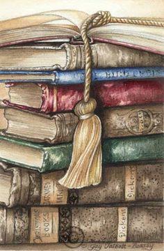 Ideas For Painting Diy Vintage Vintage Prints, Vintage Art, Decoupage Paper, Old Books, Antique Books, Book Nooks, Altered Books, I Love Books, Vintage Images