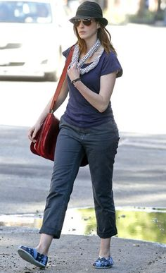 Anne Hathaway in her Toms! Available at Local Color in Northeast Harbor Maine.