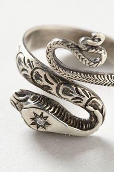 i'm a sucker for a good snake ring... Diamondback Ring - anthropologie.com