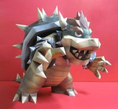 Mario papercraft models and designs