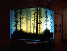 Forest Aquariums fo Mariele Neudecker via mymodernmet: Dynamic Sculptural Landscapes Constructed Within Glass Aquariums. #Aquarium #Landscape
