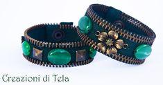 Simona Tela - Creazioni Artigianali: Bracciali con cerniere lampo