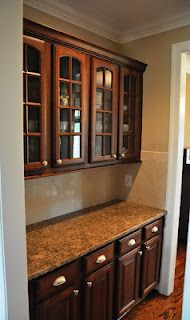 Butler's Pantry between dining room and kitchen, great for entertaining!