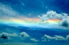 Circumhorizontal arcs, misleadingly known as fire rainbows: an optical phenomenon featuring an ice halo formed by plate-shaped ice crystals in high level cirrus clouds. | 30 Natural Phenomena You Won't Believe Actually Exist