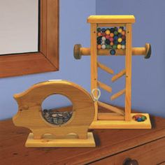 11-741 - Piggy Bank And Gumball Machine Woodworking Plan Set - 2 designs included