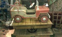 1948 Steger pedal car original for sale BLUE DOG