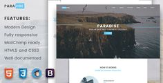Paradise  -  Creative Multipurpose Landing Page . Paradise is a professional conversion landing page. Generate leads, attract visitors and find users for your