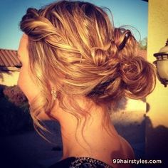 cute messy summer hairstyle - 99 Hairstyles Ideas
