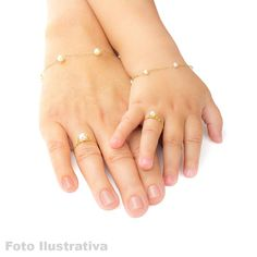 Gold Children's Ring with - Fashion Jewelry - Schmuck Baby Jewelry, Jewelry Tags, Kids Jewelry, Cute Jewelry, Bridal Jewelry, Gold Jewelry, Jewellery, Gold Necklace, Mother Daughter Bracelets