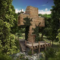 El nuevo concepto de microhogar diseñado por Papuashvili en Georgia es una forma de armonizar Naturaleza y materiales reciclables de construcción.