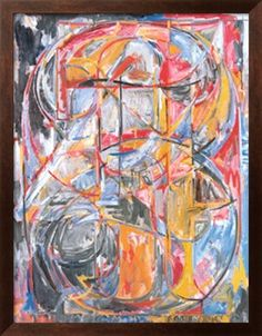 Jasper Johns 0 through Oil on canvas, 54 × 45 inches Collection: The Whitney Museum of American Art, New York (lesson idea: art by the numbers) Jasper Johns, Pop Art, Abstract Expressionism, Abstract Art, Abstract Paintings, Artist Painting, Landscape Paintings, Neo Dada, Kunst Poster